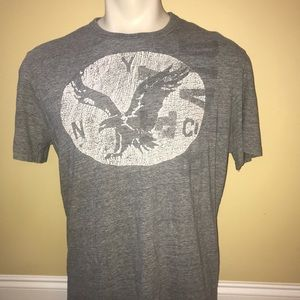American Eagle Gray Dotted Eagle T-shirt Sz Large
